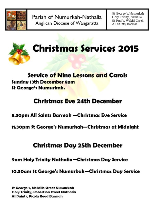 Parish Christmas Services