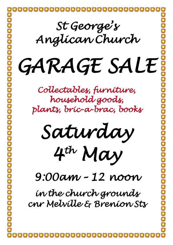 Garage sale Poster 2019