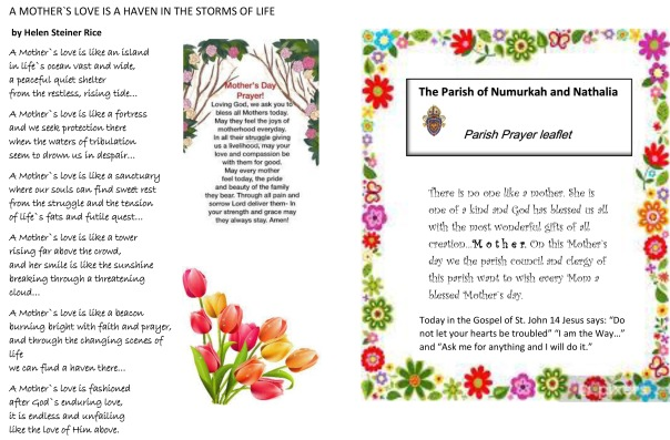 Mother`s day prayer leaflet