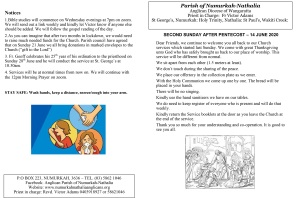 Pentecost2 prayers&notices