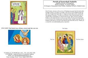 Trinity Sunday Pewsheet
