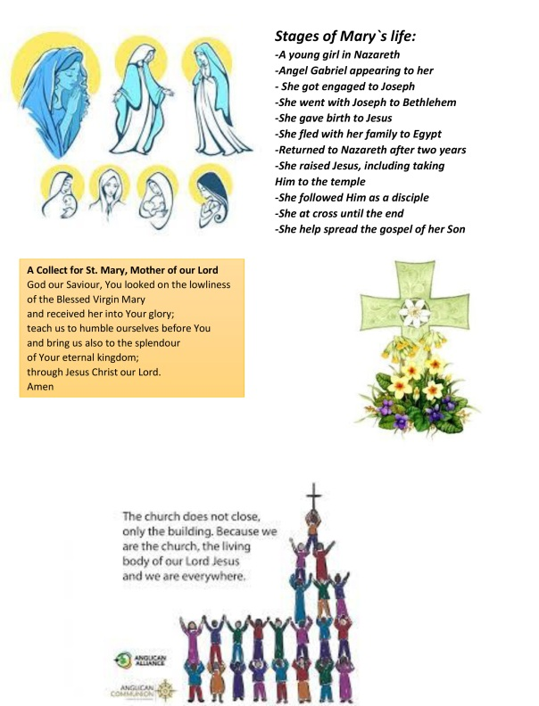 Mary Mother of our Lord sermon & notices(c)