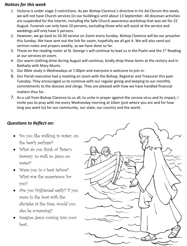 Walking on water sermon prayers notices puzzles (003)2