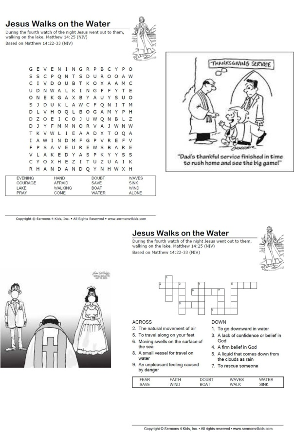 Walking on water sermon prayers notices puzzles (003)3