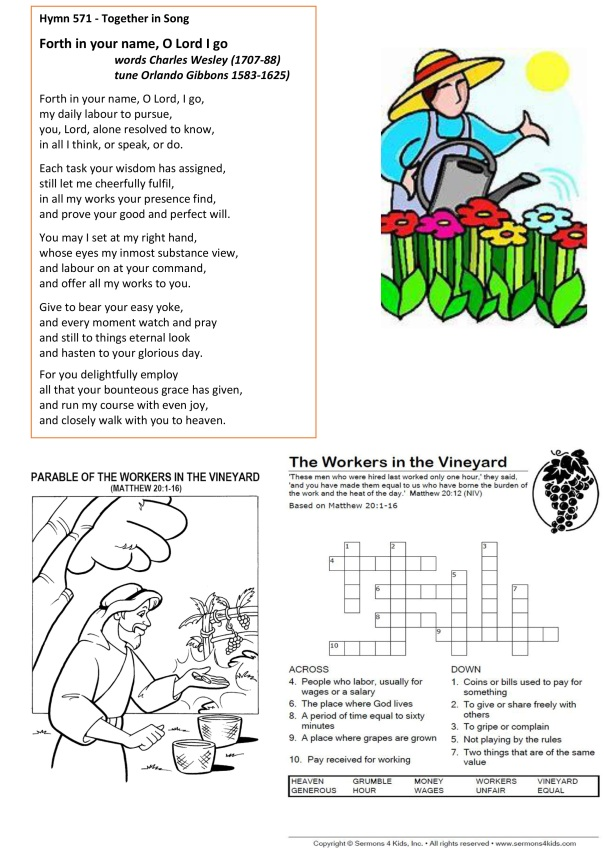 Sermon about laborers in the vineyard prayers notices puzzles (002)(b)
