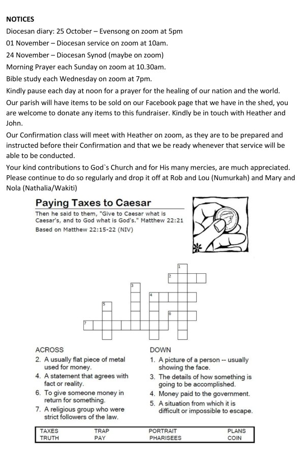 Homily on Moses' leadership prayers notices & puzzles-3