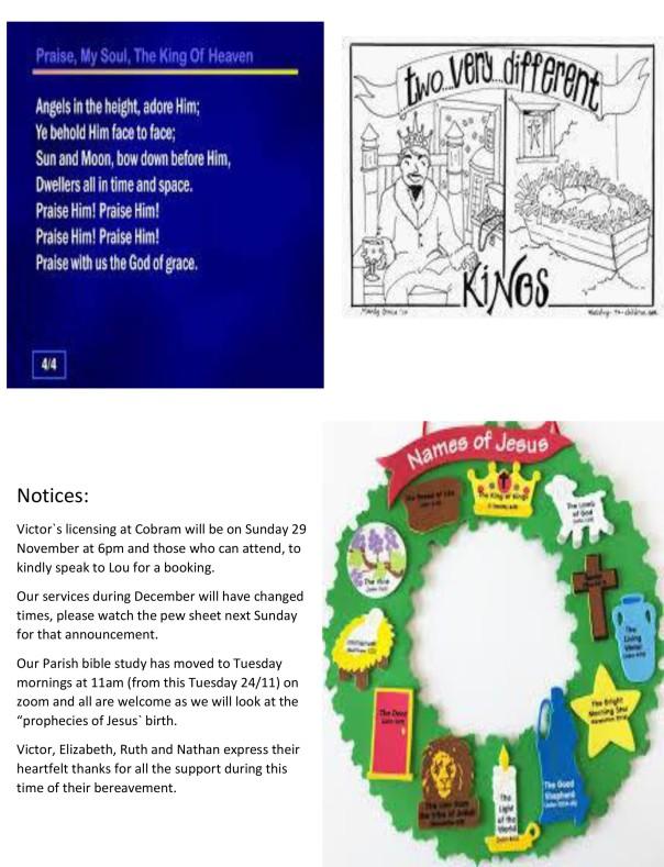 Homily - Chrst the King & Pewsheet-2